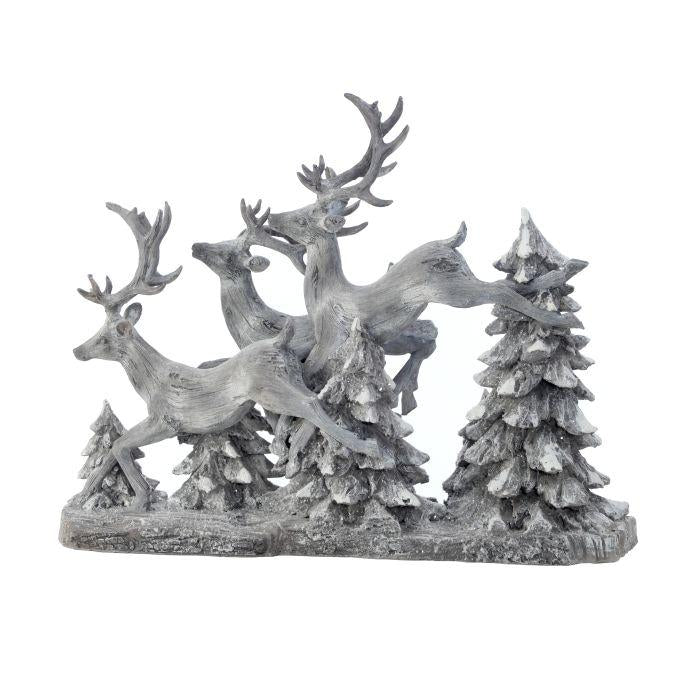 "16"" Leaping Deer Scene"
