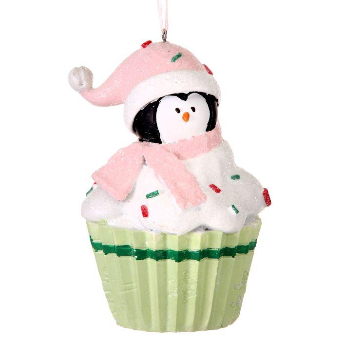 "4/5"" Frosty Penguin Cupcake"