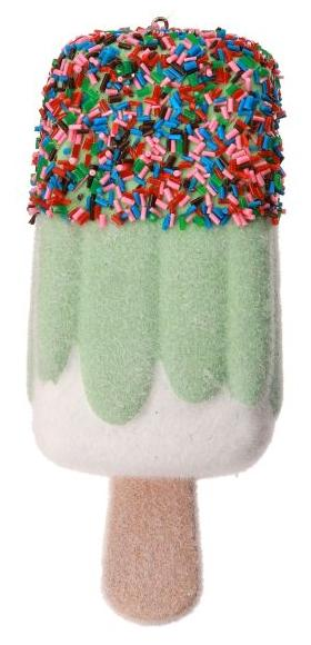 "5"" Popsicle Ornament (Green)"