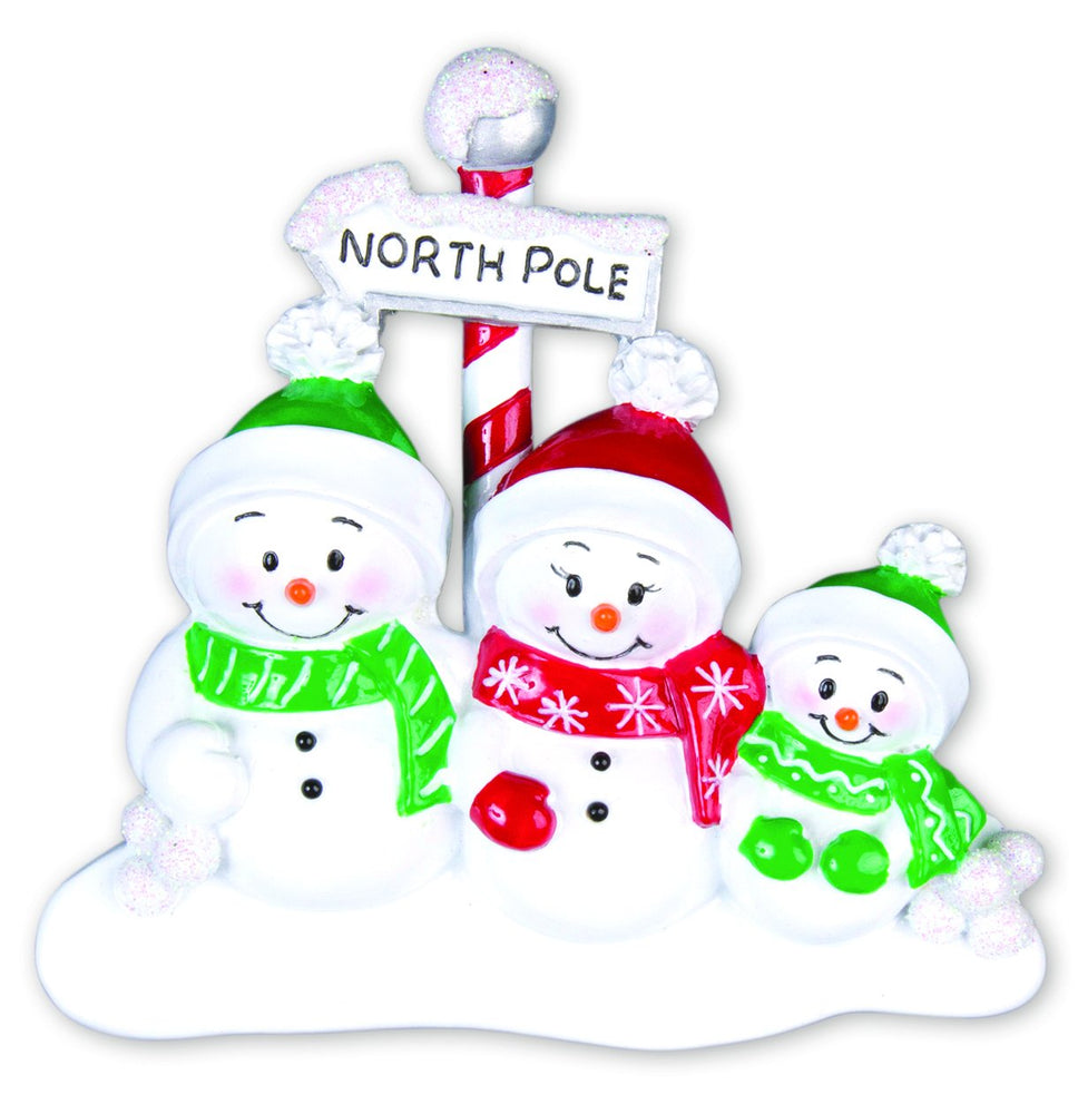 NORTH POLE SNOWFAMILY X 3