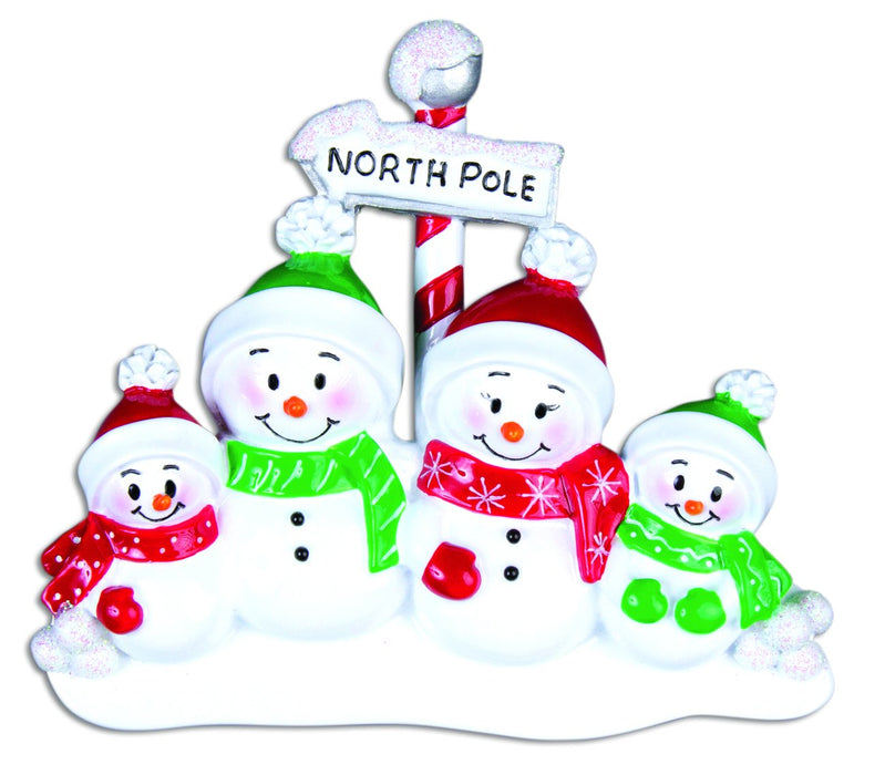 NORTH POLE SNOWFAMILY X 4
