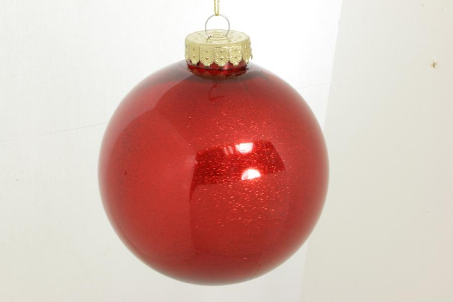 150mm red glitter ball