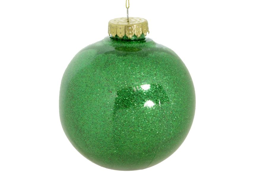 80mm green glitter ball