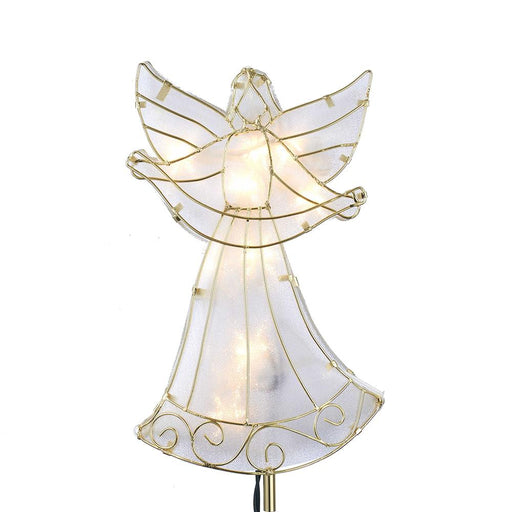10l angel w/banner topper