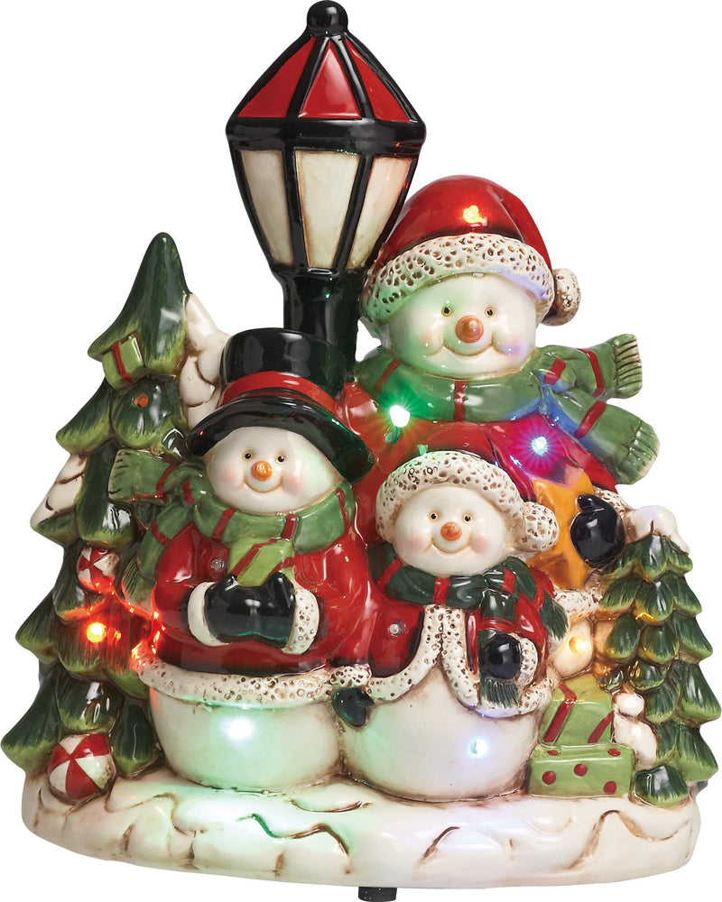"11.25"" Snowman Family Music/LED"