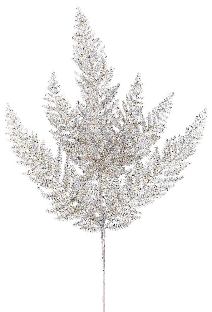 "24"" Glitter Fern Spray"