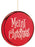 "6"" Merry Christmas Disk Ornaments"