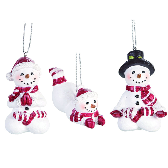 Yoga Snowman Ornaments