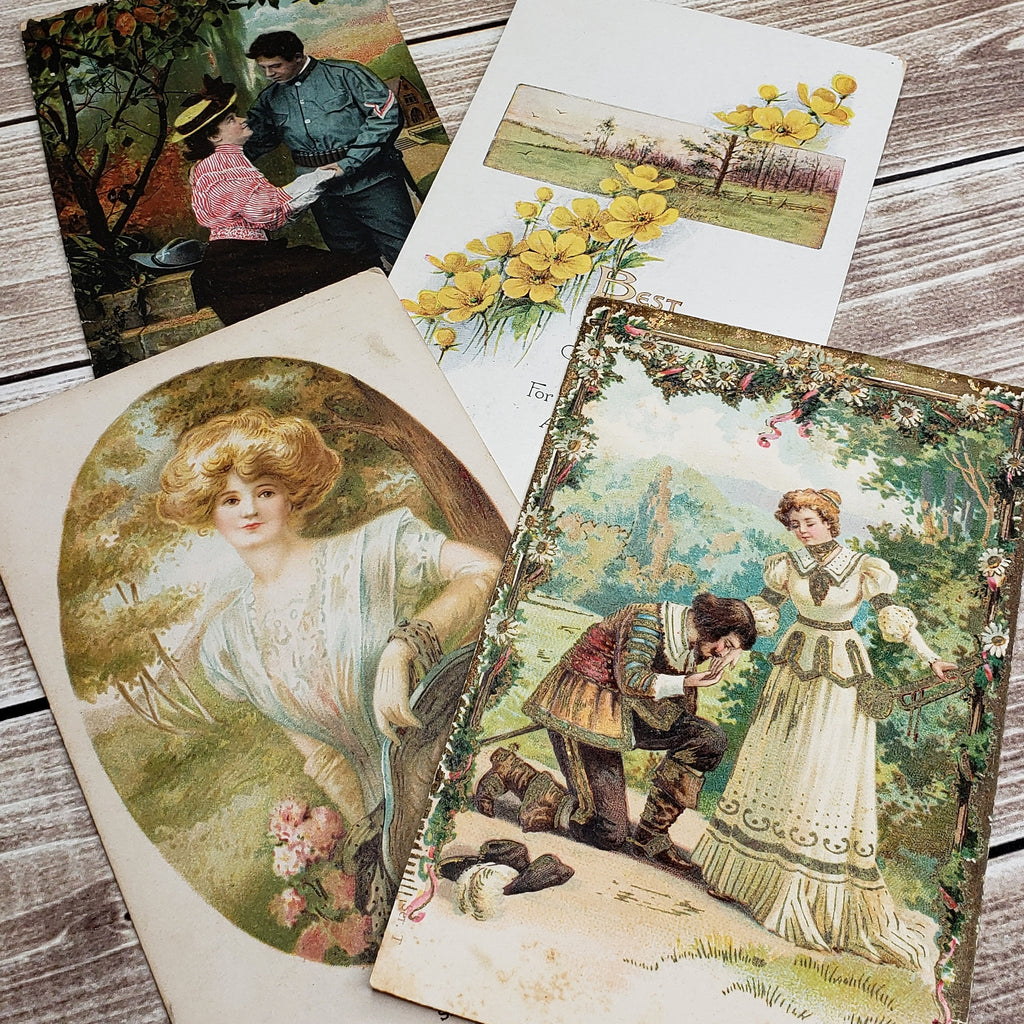 New Freebie! Garden Romance Postcards