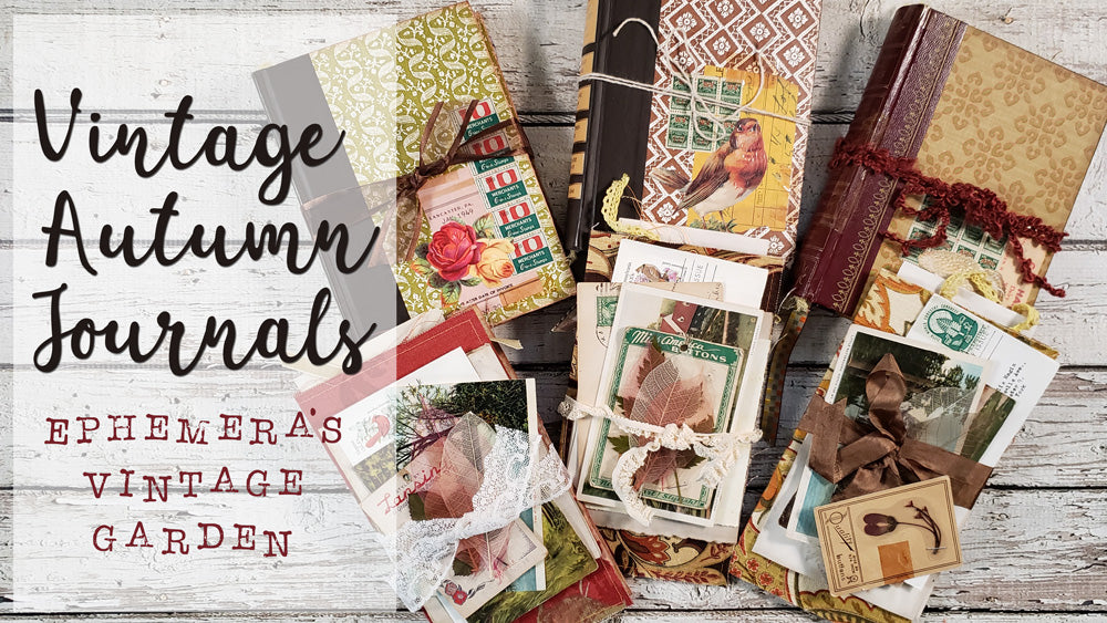 Autumn Journals With {Fabric} Ephemera Folder