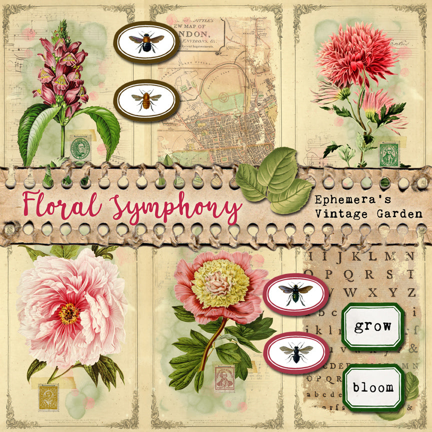 NEW Printable Journal Kit - Floral Symphony