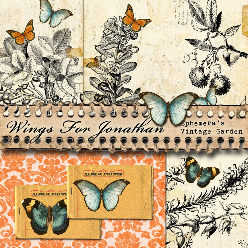 Now Available - `Wings For Jonathan II` Printable Journal Kit