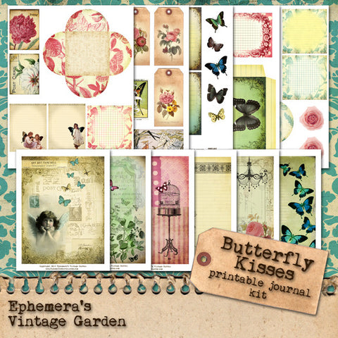 Butterfly Kisses - Printable Journal Kit For Composition Notebook