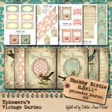 Shabby Birdie - Printable Journal Kit