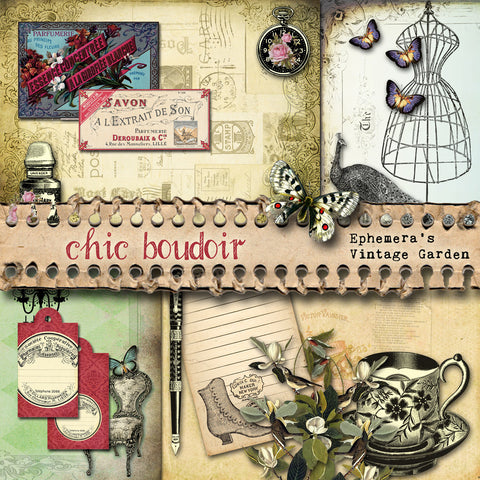 Chic Boudoir - Printable Journal Kit