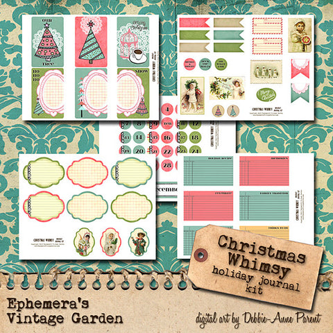 Christmas Whimsy - Printable Journal AND Planner Kit