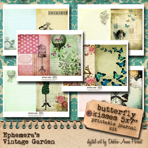 Butterfly Kisses - Printable Journal Kit