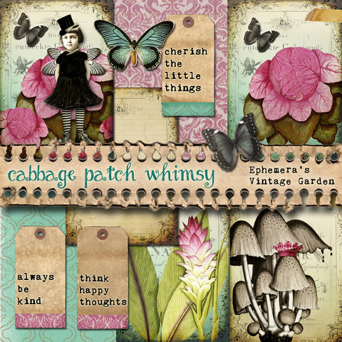 Cabbage Patch Whimsy - Printable Journal Kit