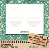 Garden Carnival - Printable Journal Kit
