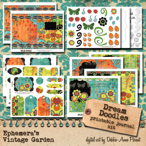 Dream Doodles - Printable Journal Kit