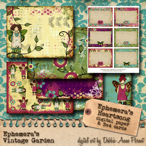 Ephemera's Heartsong II - Printable Journal Kit