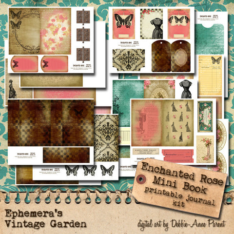 Enchanted Rose - Printable Journal Kit