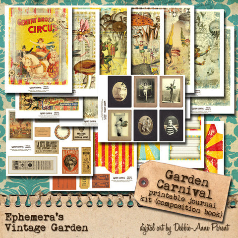 Garden Carnival - Composition Book Journal Kit