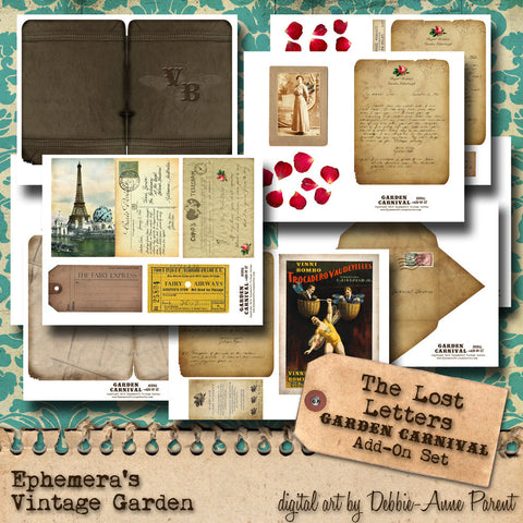 Garden Carnival 'Lost Letters' - Journal Add-On Set