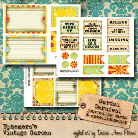 Garden Carnival - Journal Cards Add-On Set
