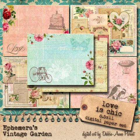 Love Is Chic II - Printable Journal Kit