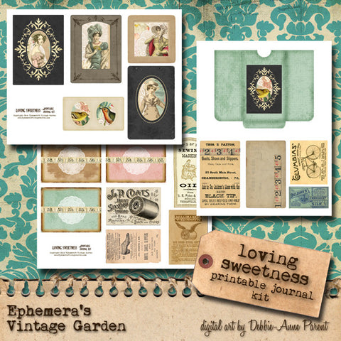 Loving Sweetness - Printable Journal Kit