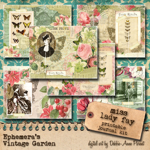 Miss Lady Fay - Printable Journal Kit