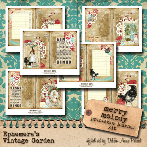 Merry Melody - Printable Journal Kit