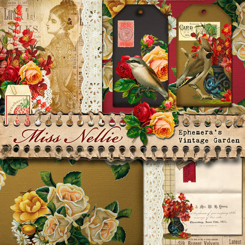 Miss Nellie (Diary) - Printable Journal Kit