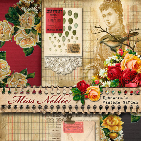 Miss Nellie (Notebook) - Printable Journal Kit