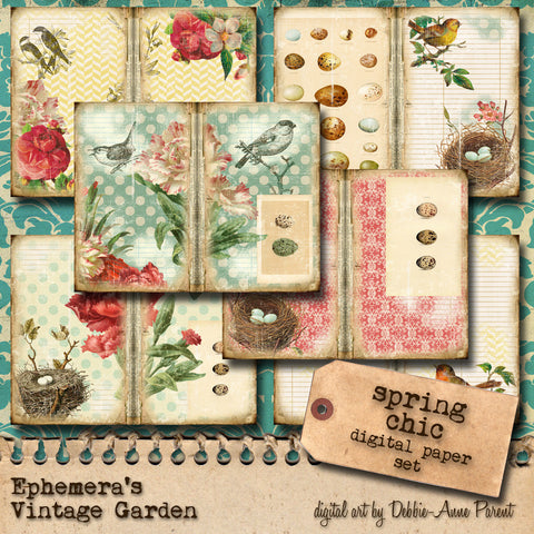 Cottage Garden II 'Spring Chic' - Printable Journal Kit