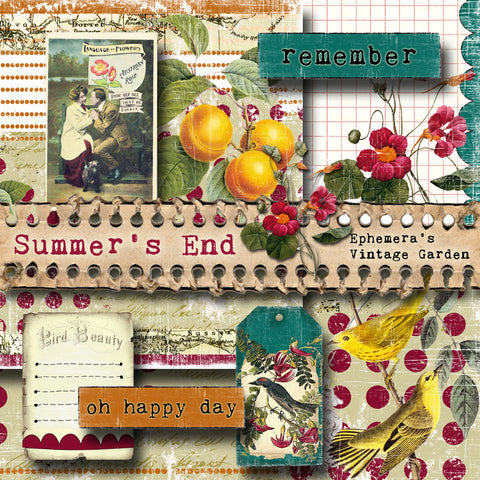 Summer's End - Printable Journal Kit With Blank Planner Inserts