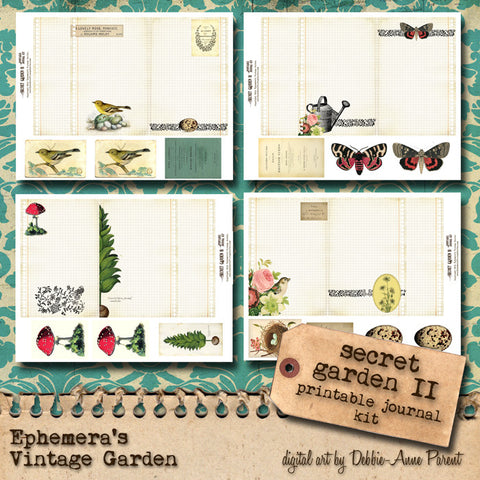 Secret Garden - Printable Journal Kits I and II