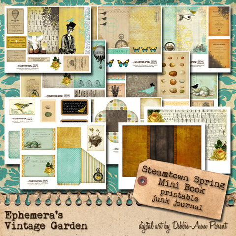 Steamtown Spring - Printable Journal Kit