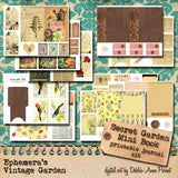 Secret Garden - Printable Journal Kit