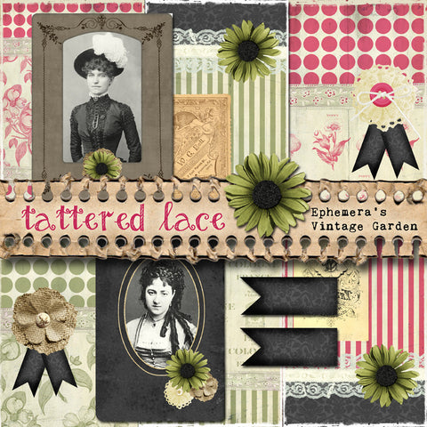 Tattered Lace - Printable Journal Kit