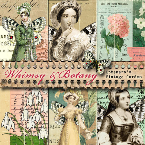 Whimsy & Botany II - Printable Journal Kit