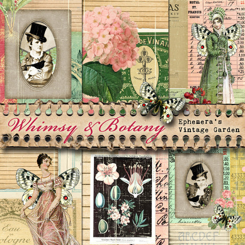 Whimsy & Botany III - Printable Journal Kit