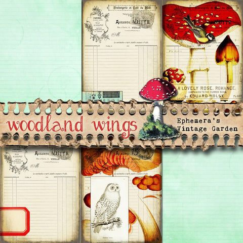 Woodland Wings II - Printable Journal Add On Set