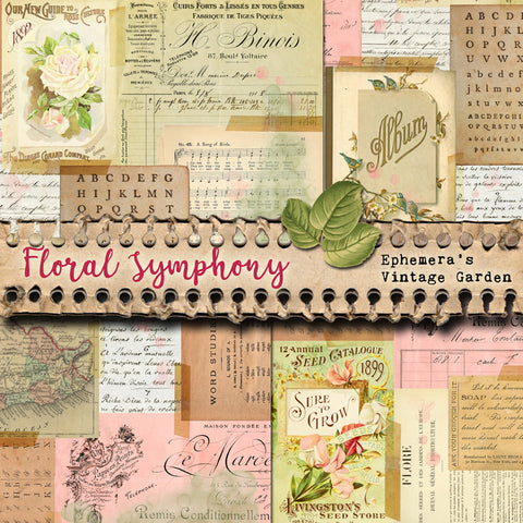 Floral Symphony - Collage Masterboards