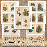 Familiar Trees III - Printable Journal Cards