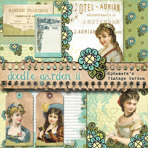 Doodle Garden - Printable Journal Kit