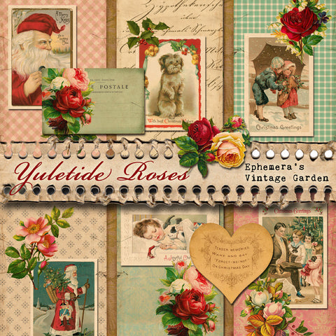 Yuletide Roses - Printable Journal Kit