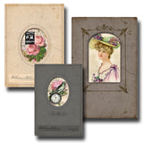 Cabinet Card Frames - Printable Journal Covers