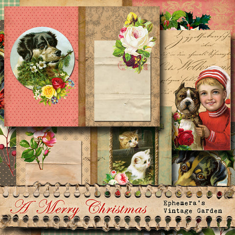 A Merry Christmas - Printable Journal Kit